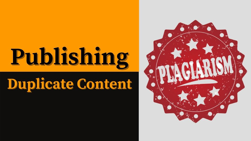Publishing duplicate content