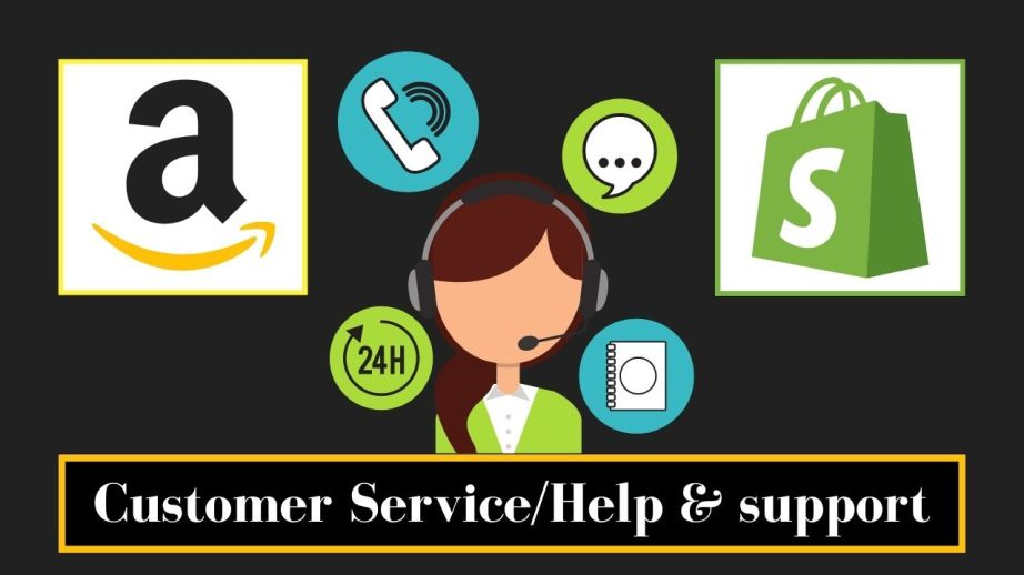 Customer service/Help and support Amazon vs Shopify